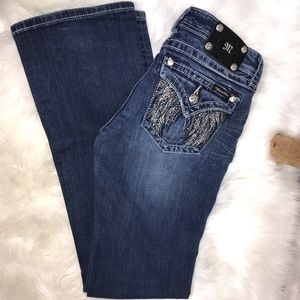 Miss Me Jewel Angel Wings BootCut Jeans 28